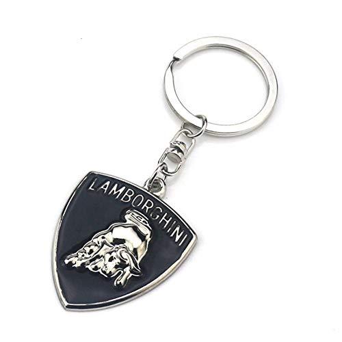 ASTAOT Porte-clés,Haut De Gamme 4S Boutique Cadeau Pendentif Noir Goutte D'Huile Porte-Clés en Métal pour Lamborghini Voiture Logo Hommes Et Femmes Taille Suspendus Porte-Clés Anneau