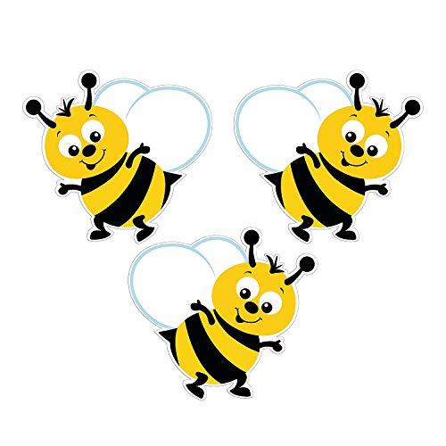 Fun Express Bulletin Board Bumblebee Cutouts - 48 Pieces - Classroom Decorations and Teacher Supplies