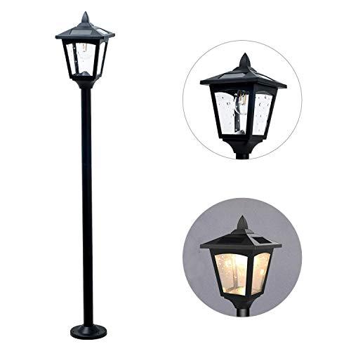 "42"" Mini Street Vintage Outdoor Garden Post Solar Lamp Post Light Lawn - Adjustable (Pack 1)"
