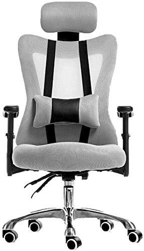 LQ ZTT Computer Stuhl, Rotary Lift Stuhl, Mitarbeiter Bürostuhl, Konferenzstuhl, Flaschenzug Stuhl, Studenten Home Zurück Stuhl, Racing Stühle, for Tagungsraum Startseite (Farbe : Grey)