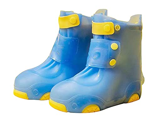 Unisex child rain boots Anti-slip thick, wear-resistant and foldable waterproof rain boots(26-34) (numeric_7)