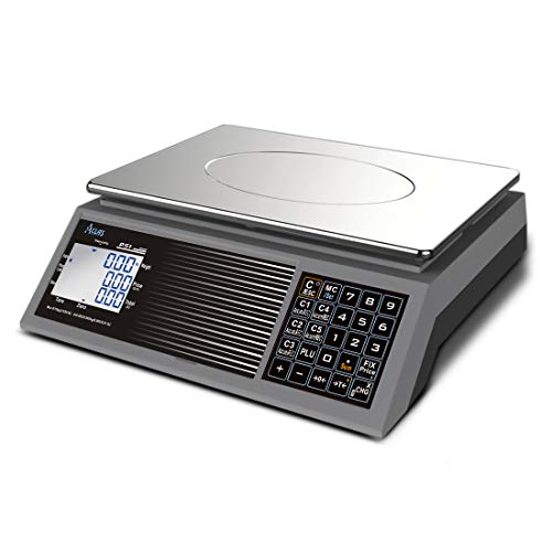 ACLAS Digital Price Computing Scale NTEP Certified Legal for Trade 60lb Dry Cell Battery Powered 2 Years Working, No Plug in Power, Touch Like Keys, Multi Customers Accumulating