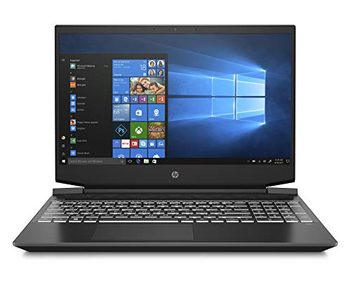HP - Gaming Pavilion 15-ec0023nl Notebook Gaming, AMD Ryzen 5 3550H, RAM 8 GB, SSD 512 GB, NVIDIA GeForce GTX 1650 4 GB, Windows 10 Home, Schermo FHD IPS 15.6', Lettore Micro SD, USB-C, HDMI, Nero
