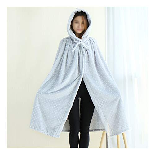 DALLL Manta con mangas de Halloween capa y capucha de algodón para adultos y niños, 18,39 x 78