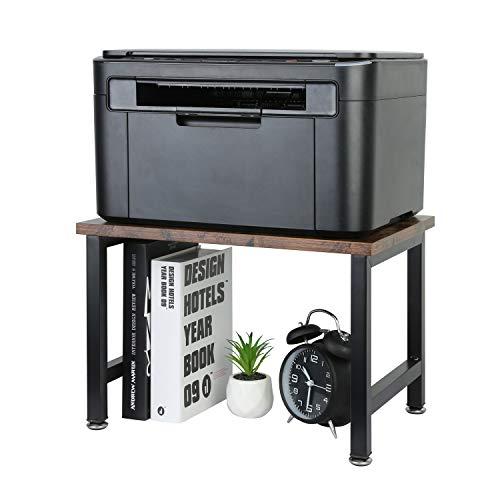 OROPY Vintage Printer Stand Holder - Multi-Purpose Desktop Shelf Storage Organizer for Printers Fax Machine Scanner Office Supplies with Adjustable Anti-Skid Feet