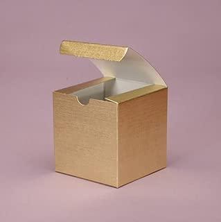 gold linen foil gift boxes