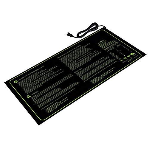 Yisily Sämling Heizmatte hydroponische Samenpflanze Heizkissen PVC Schwarz Wasserdicht für Indoor Outdoor Gartenarbeit - (US-Stecker)