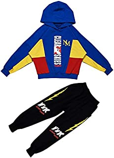 WTYD Family Goods Boys Hooded Casual Sport Two-Piece (Color : Dark Blue, Size : 120cm)