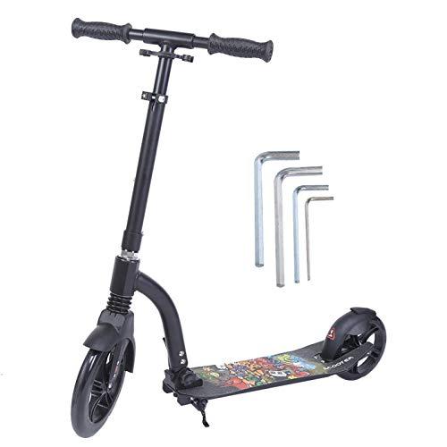 Sistema de seguridad de parada de freno de dos ruedas Scooter conveniente altura ajustable Scooter plegable compacto scooter de trabajo deslizante para hombres