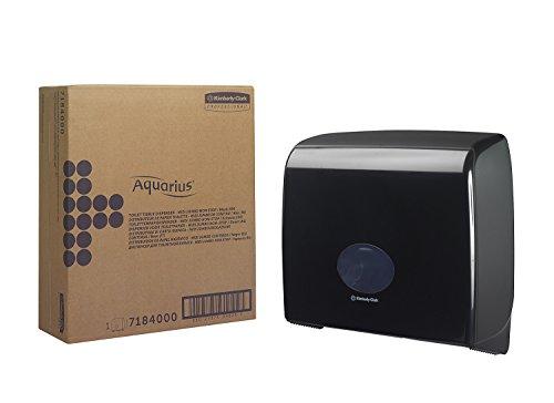 AQUARIUS* Jumbo, Dispensador de Papel Higiénico en Rollo Non-Stop (código de producto 7184) - Negro