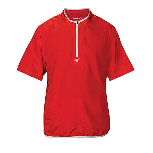 Easton Herren M5Short Sleeve Käfig Jacke, Herren, rot/Silber, Large