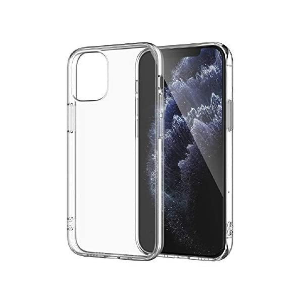 Amazon Brand - Solimo Mobile Cover (Soft & Flexible Back case) Transparent for Apple iPhone 12 Pro Max 2 41V9PWIA0EL