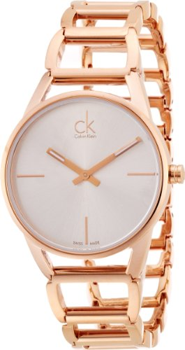 Calvin Klein K3G23626 - Reloj analógico de Cuarzo para Mujer con Correa de Acero Inoxidable bañado, Color Dorado