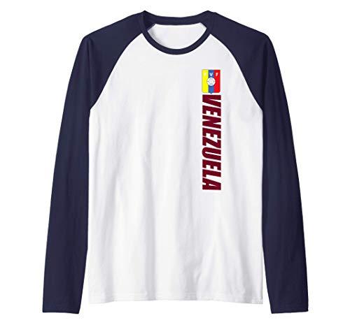 Venezuelan Futbal Camiseta Vertical Flag Of Venezuela Camiseta Manga Raglan