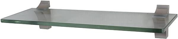 XVL 14 Inch Bathroom Glass Shelf Brushed Nickel GS3003A
