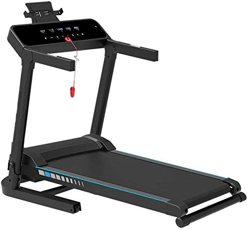 Running Machines Loopband Space Saver Fitness met tablethouder Elektrische machine Walking Running Fitness Machine voor fitness Gym (kleur: wit Afmeting: 124 5x138x62cm)(Upgrade)