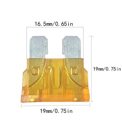 JABINCO 35Pcs - Car Standard Blade Fuse Set, ATC Automotive Fuse,5/7.5/10/ 15/20/ 25/30 AMP Fuse