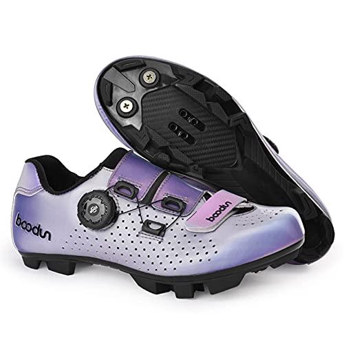 JYSSH Zapatillas de Ciclismo Zapatillas MTB para Mujer con Hebilla mágica,Zapatillas de Bicicleta de Carretera Zapatillas de Ciclismo Deportivas Completas Zapatillas de Ciclismo de Carretera,A-38