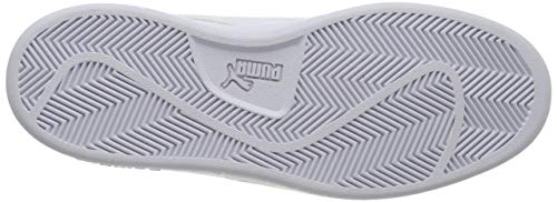 PUMA Smash V2 L, Zapatillas Bajas Unisex-Adulto, Blanco (White/White), 41 EU