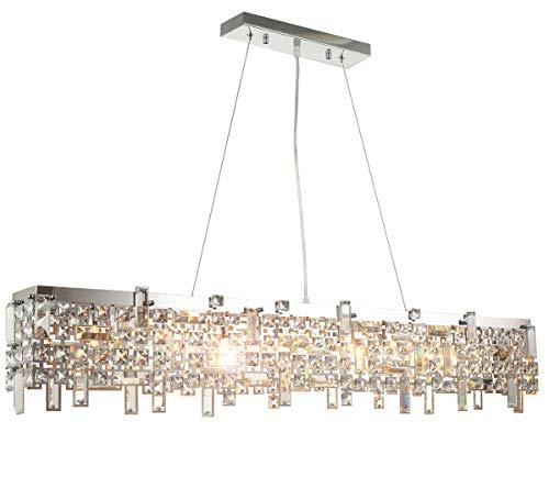 lampadario soggiorno vetro Moderno led lusso vetro cristallo lampadario plafoniera di dimensioni 110cm diametro soffitto soggiorno luce 8xG9 presa incl. led lampadini