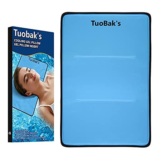 TuoBak's Kühlendes Kopfkissen I Kühlender Kisseneinsatz I für verbesserten Schlaf - hilft bei Migräne, Kopfschmerzen, Menopause, Nachtschweiß und Hitzewallungen(60×40cm)