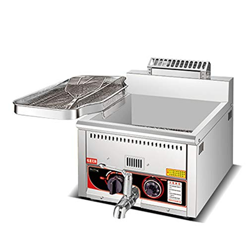 Fryer friteuse met gas, pan van roestvrij staal en terugloopventiel voor de oliepan, temperatuurontwerp van het intelligente ontluchtingsdesign.
