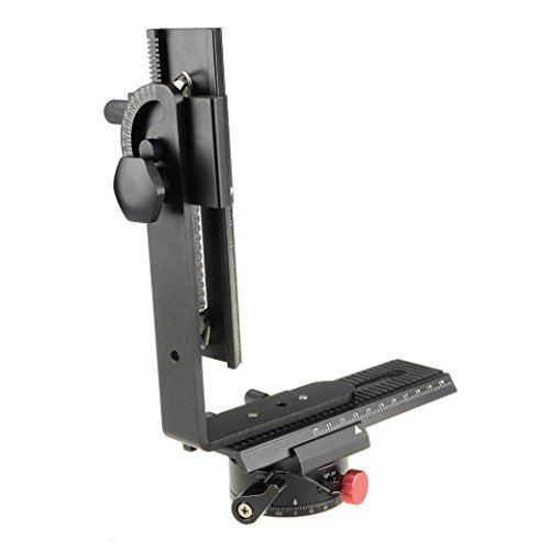 DSLRKIT 360° Swivel Panoramic Indexing Rotator+ 2 Way Rail Slider+ L Bracket Kit