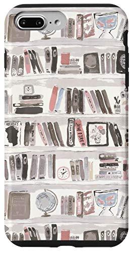 iPhone 7 Plus/8 Plus Cute Watercolor Bookcase Boho Style Accessory Case