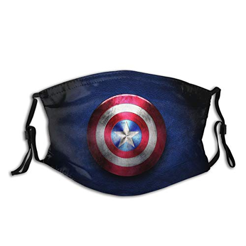 Cap-Tain America Outdoor Mask,Protective 5-Layer Activated Carbon Filters Adult Men Women Bandana