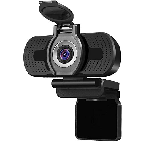 1080P Full Hd Webcam with Webcam Cover,Larmtek USB Camera,Computer Laptop Camera for Conference and Video Call, Pro Stream Webcam for Working at Home, W2 (Renewed)