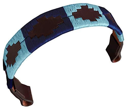 Carlos Diaz Designer Banda Briglia in Cuoio Genuino Cerato Ricamato per Cavallo (Completo...