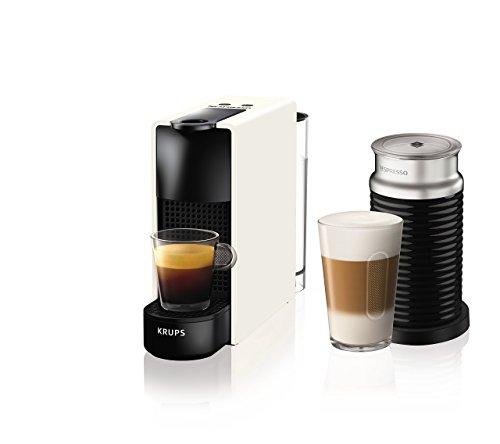 Nespresso von Krups Essenza Mini, 1200W, schwarz Essenza, Mini mit Aeroccino 20.4 x 8.4 x 33 cm weiß