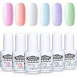 Perfect Summer Semi-permanent Gel Polish 6 Colors Gel Nail Soak Off UV LED Manicure Elegant...