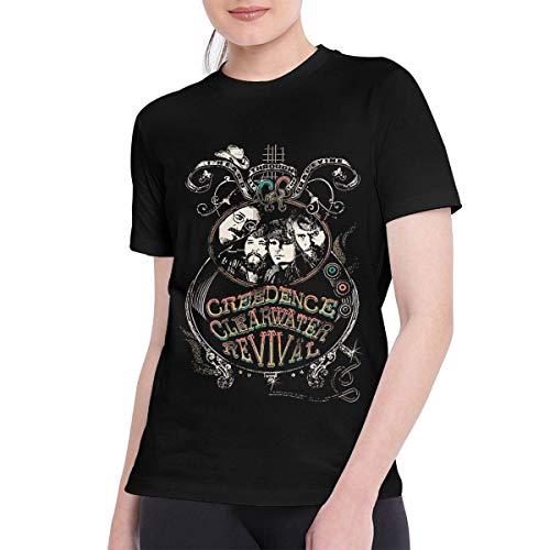 Sportswear heren shirt met korte mouwen, T Shirts voor vrouwen Bijzondere Creedence Clearwater Revival T-Shirt zwart