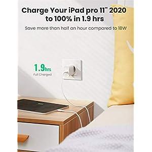 """UGREEN Cargador USB C 30W, Cargador Carga Rapida Power Delivery 3.0, Cargador Pared USB C QC 3.0 para Xiaomi Mi 9 Redmi Note 9 iPhone 12 Pro Mini Pro MAX 11 XS X iPad Pro 2020 Macbook 12"""" Samsung S20"""