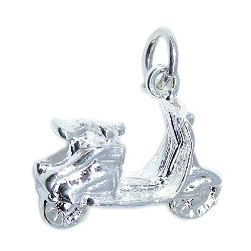 Scooter, Moped Motorrad sterling-Silber 925 charms CE2463, Biken