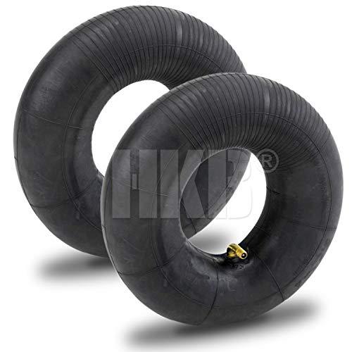 HKB® 2 x Schlauch für Luftrad Typ 3.00-4, Winkelventil mit Kappe, Gummi schwarz, ideal für Sackkarren, Bollerwagen, Transportwagen