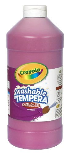 Crayola Washable Tempera Paint, Pink Kids Paint, 32 Ounce Squeeze Bottle