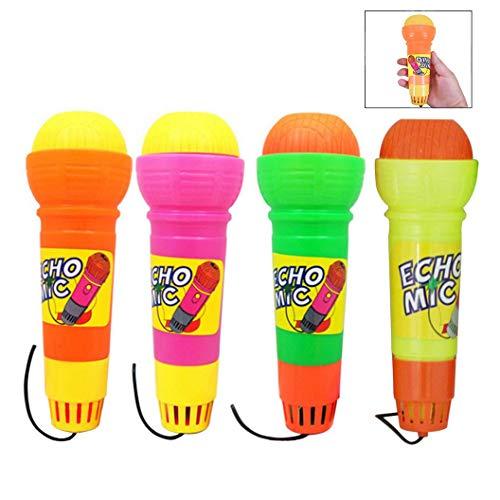 iwobi Echo Mikrofon Handmikrofon Mic Spielzeug Geschenk Geburtstag Präsentieren Spielzeug Für Kinder,4 stücke
