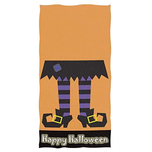 Rode handdoek 15 x 30 inch grappige heks voeten kousen laarzen hand dun bad ultra zacht hoog absorberend kleine badkamer badkamer Halloween decor geschenken