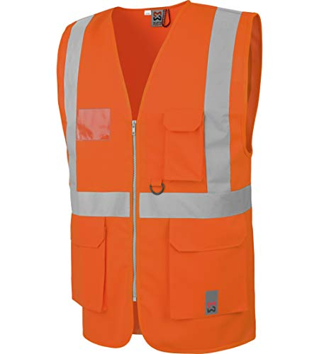 WÜRTH MODYF Gilet de Travail Haute visibilité Multipoches EN20471 Orange - Taille S/M