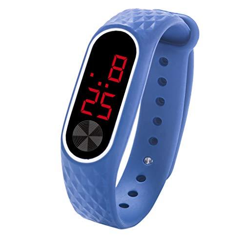 Neubula Montre-Bracelet Numérique LED Enfants Montre de Sport en Silicone pour Étudiants,Affichage de la Date et de l'Heure et Mode d'Économie d'Énergie pour Course à Pied,Voyage (Bleu)