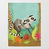 Beaxqb Pintura por números Lindo Animal Kits de Regalo de Pintura al óleo para para decoración del hogar 40X50cmSin Marco