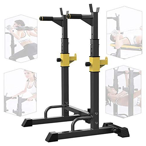 YHNMK Squat Rack Barbell Stands Heavy Duty Rack Bench Rack MusculacióN Soporte Sentadillas, Ajuste Bench Press Rack Weight Rack para Gimnasio En Casa Ejercicio FíSico,Carga MAX 250kg