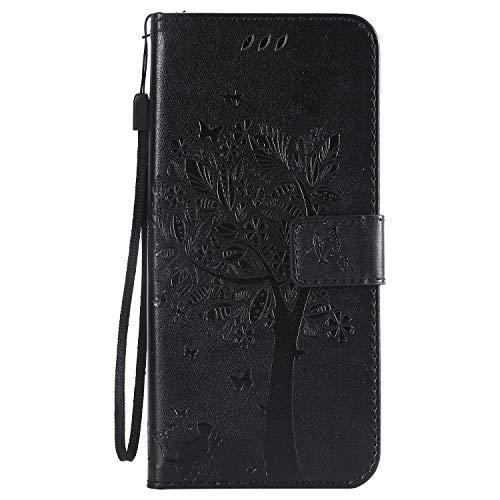 Hülle für Sony Xperia XZ3 Handyhülle Schutzhülle Leder PU Wallet Bumper Lederhülle Ledertasche Klapphülle Klappbar Magnetisch für Sony Xperia XZ3 - ZIKT021910 Schwarz