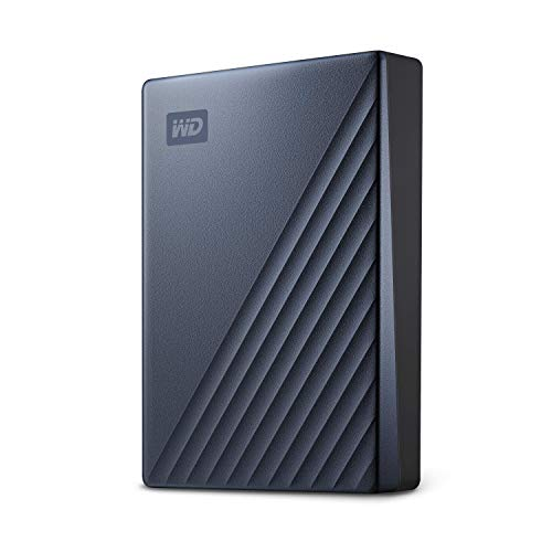 WD 5 TB My Passport Ultra disco duro portátil con protección con contraseña y software de copia de seguridad automática, Compatible con PC, Xbox y PS4, color Plata