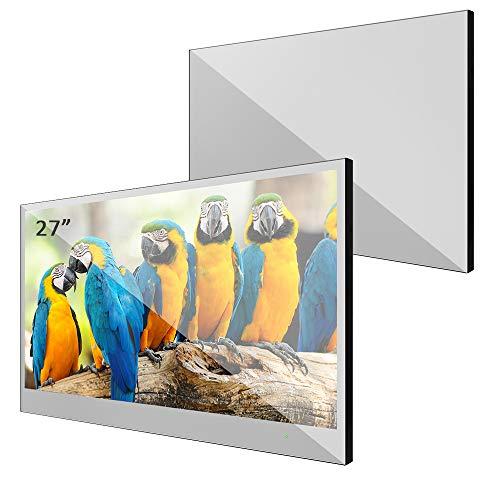 Impermeable Baño de televisor de soulaca, 19–42pulgadas, con Equipster Espejo de frontal, compatible con Online de TV, Amazon Fire, con Wi-Fi/HDMI