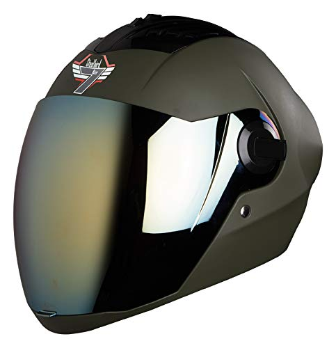 Steelbird SBA-2 7WINGS Full Face Helmet In Matt Finish with Tinted Visor...