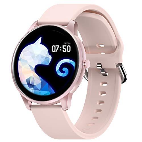 CUBOT Smartwatch, W03 1.3 Zoll Touch-Farbdisplay Armbanduhr, Fitnessuhr mit Schrittzähler, Fitness Tracker IP68 Wasserdicht Sportuhr Smart Watch mit Pulsuhr und Schlafmonitor für Damen Herren (Pink)