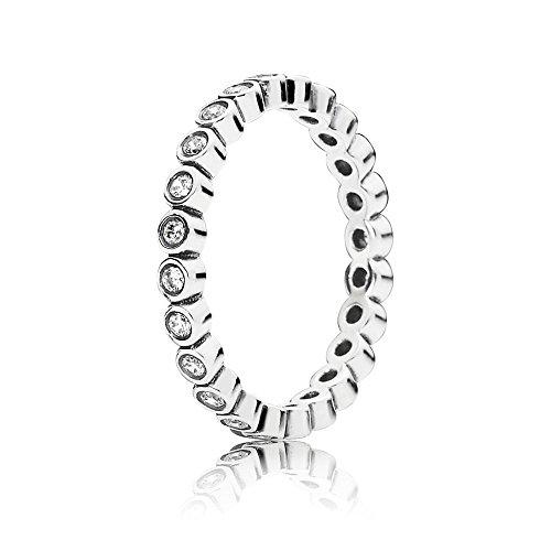 Pandora para mujer-anillo círculos 925 plata blanco zirconia - 190941CZ